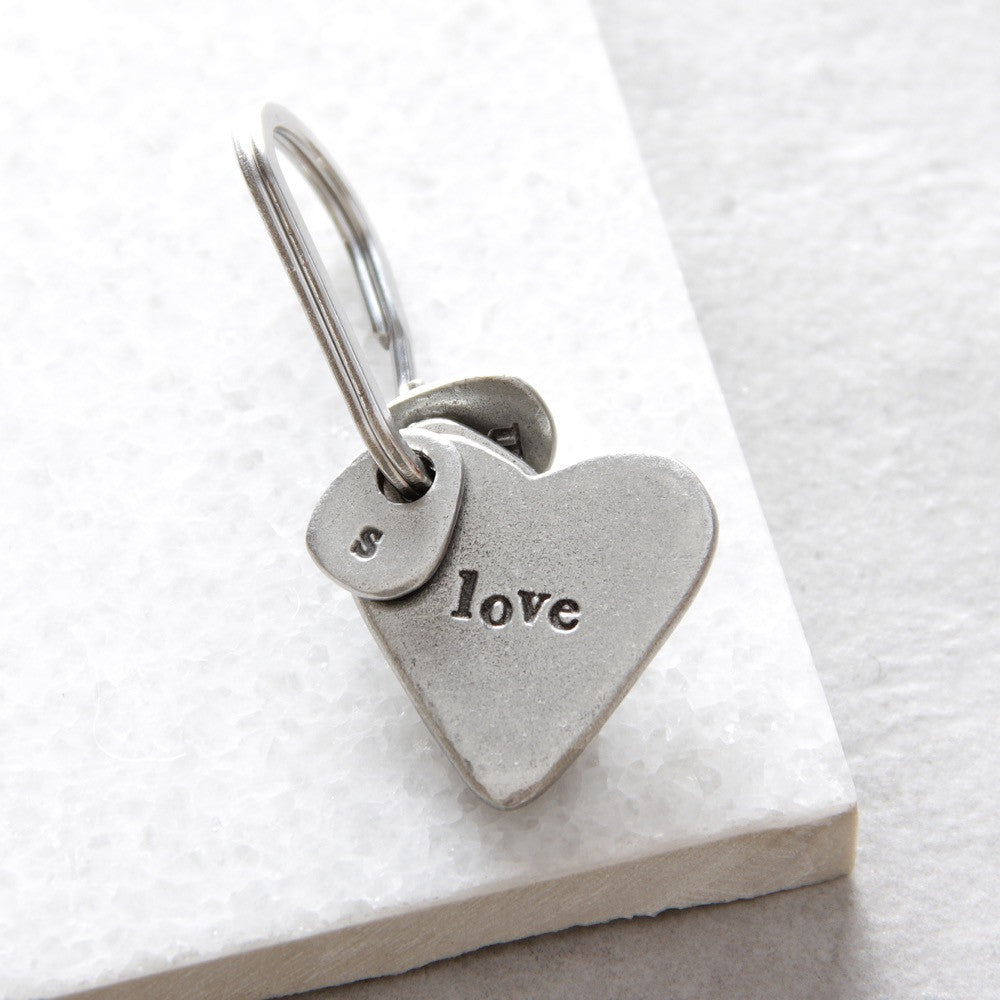 'Love' Heart Keyring
