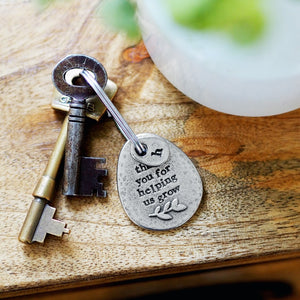 'Thank You For Helping Me/Us Grow' Keyring