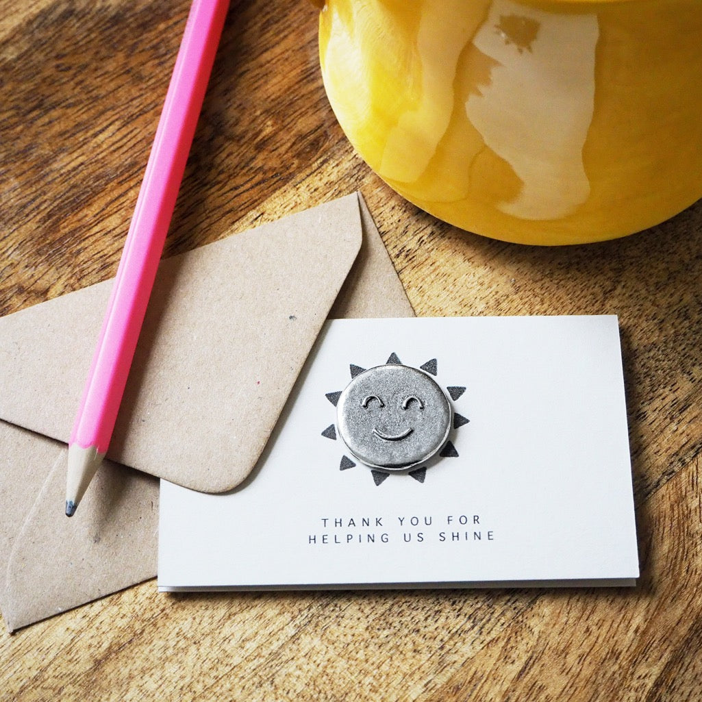 'Thank You for Helping Me/Us Shine' Tiny Token Card