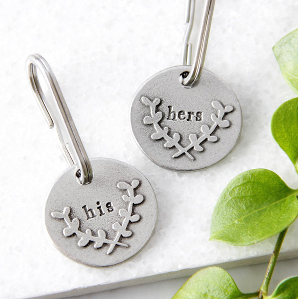 'His' or 'Hers' Keyring
