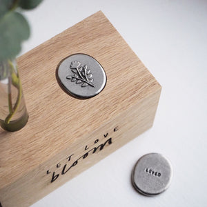 'Let Love Bloom' Vase and Token Set