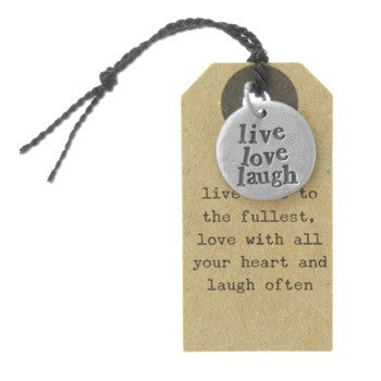 'Live Love Laugh' Charm