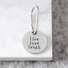 Load image into Gallery viewer, 'Live Love Laugh' Keyring