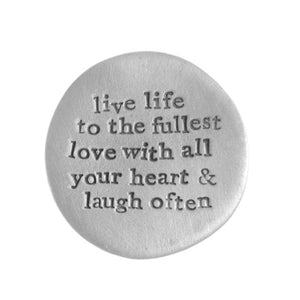 Live Love Laugh Pocket Coin