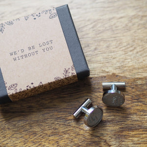 'Lost Without You' Cufflinks