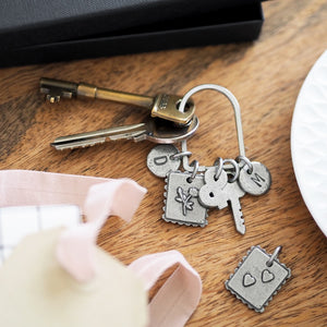 Personalised Love Letter Charms Keyring