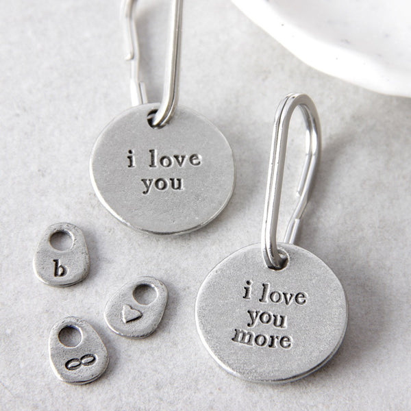 'I Love You'/'I Love You More' Keyring