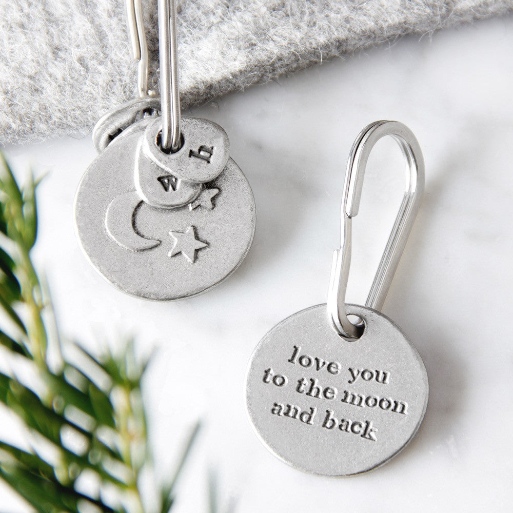 'Love You To The Moon And Back' Keyring