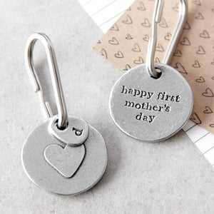 Personalised 'Happy First Mother's Day' Keyring