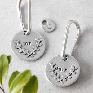 'Mr' or 'Mrs' Keyring