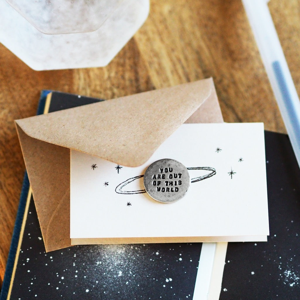 'You Are Out of This World' Tiny Token Card