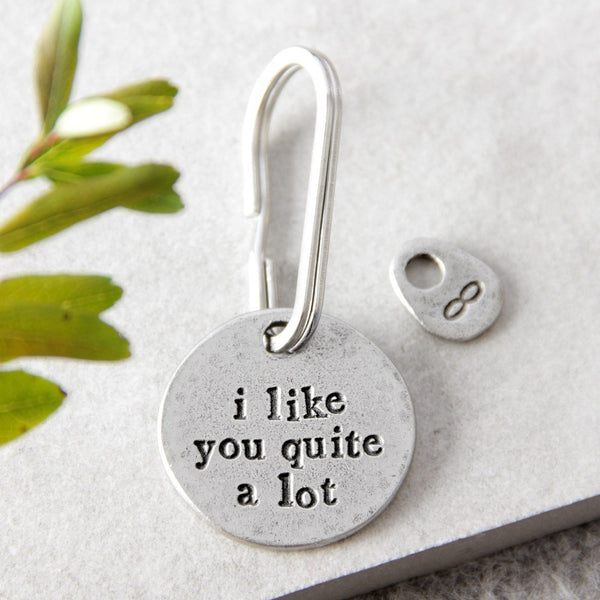 'I Like You Quite A Lot' Keyring