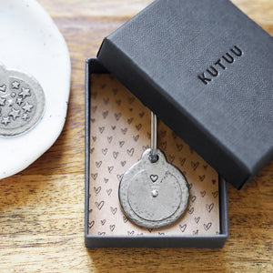 Secret Message Spinner Keyring
