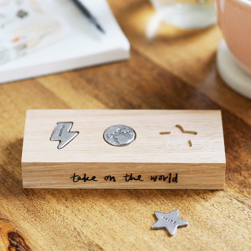 'Take On The World' Pocket Tokens