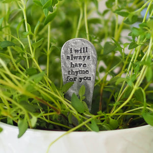 'I Will Always Have Thyme For You' Plant Marker