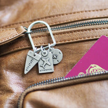 Load image into Gallery viewer, Personalised Travel Charms Keyring