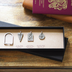 Personalised Travel Charms Keyring