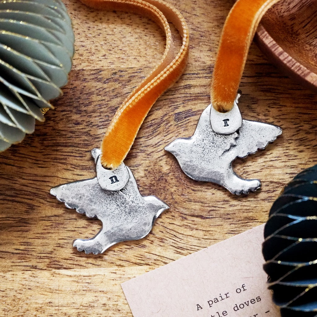 Two Turtle Doves Friendship Tree Charm Set