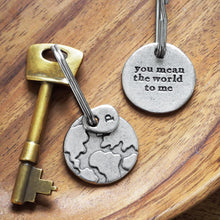 Load image into Gallery viewer, 'You Mean The World To Me/Us' Keyring