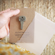 Load image into Gallery viewer, Personalised 'You Hold The Key To…' Keyring Charm