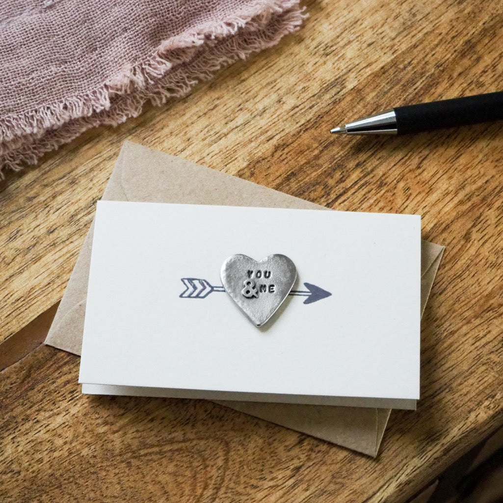 'You & Me' Tiny Token Card