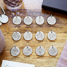 Load image into Gallery viewer, Personalised Family Zodiac Constellations Keyring