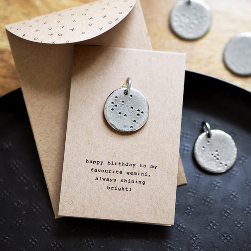 Zodiac Constellation Charm