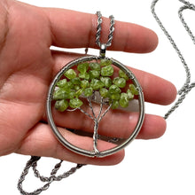 Prehnite Tree of Life Necklace