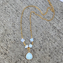 Opal and Gold Filled Dainty Necklace
