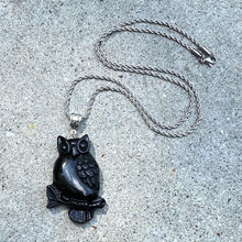 Owl Stone Pendant Necklace