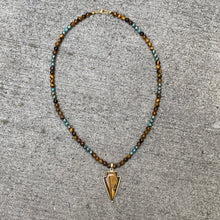 Tiger's Eye Arrow beaded Necklace