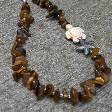Tiger's Eye Turtle Necklace