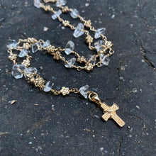 Crystal Quartz and Gold Filled Rosary