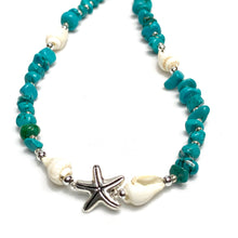 Sea Shell Turquoise Beaded Necklace