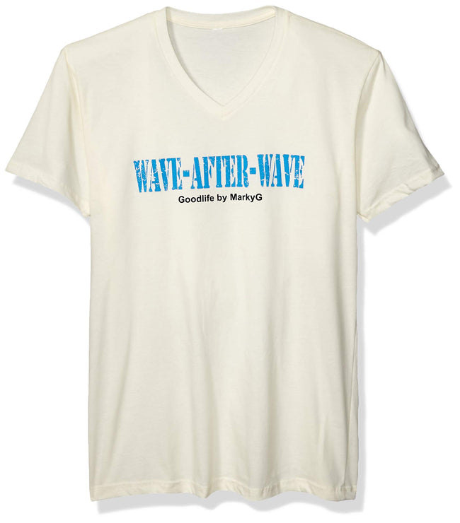Wave After Wave Graphic Printed V-Neck T-Shirt - Clementine Apparel