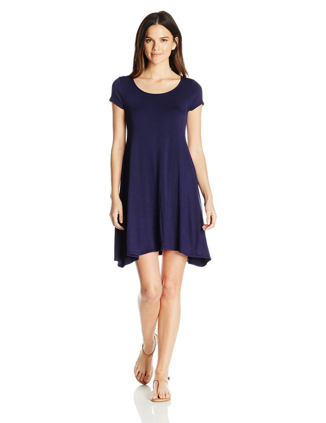 Clementine Women's Trapeze Short Sleeve Dress - Clementine Apparel