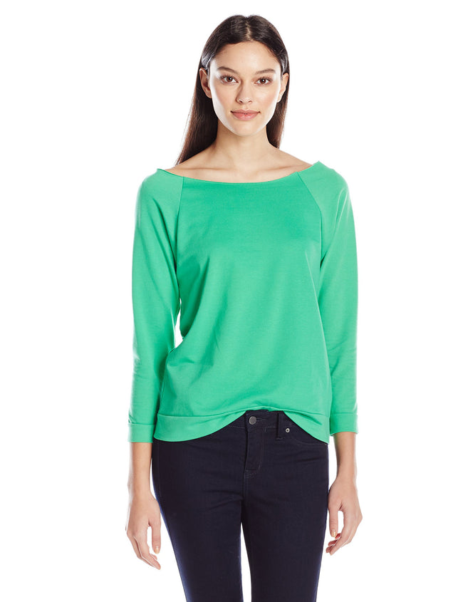 Clementine Women's Light Weight French 3/4 Sleeve Raglan Top - Clementine Apparel