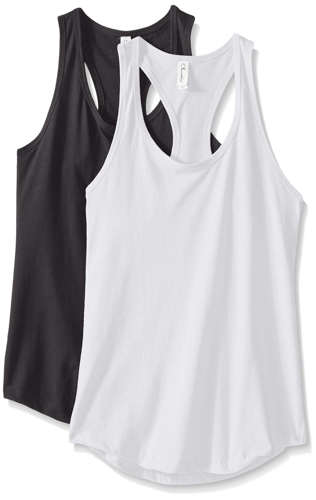 Clementine Women's Petite Plus Ideal Racerback Tank (Pack of 2) - Clementine Apparel