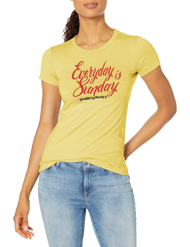 Marky G Apparel Women's Casual Short Sleeve Crewneck Tops Slim Fit T-Shirt With Hilton Head Printed - Clementine Apparel