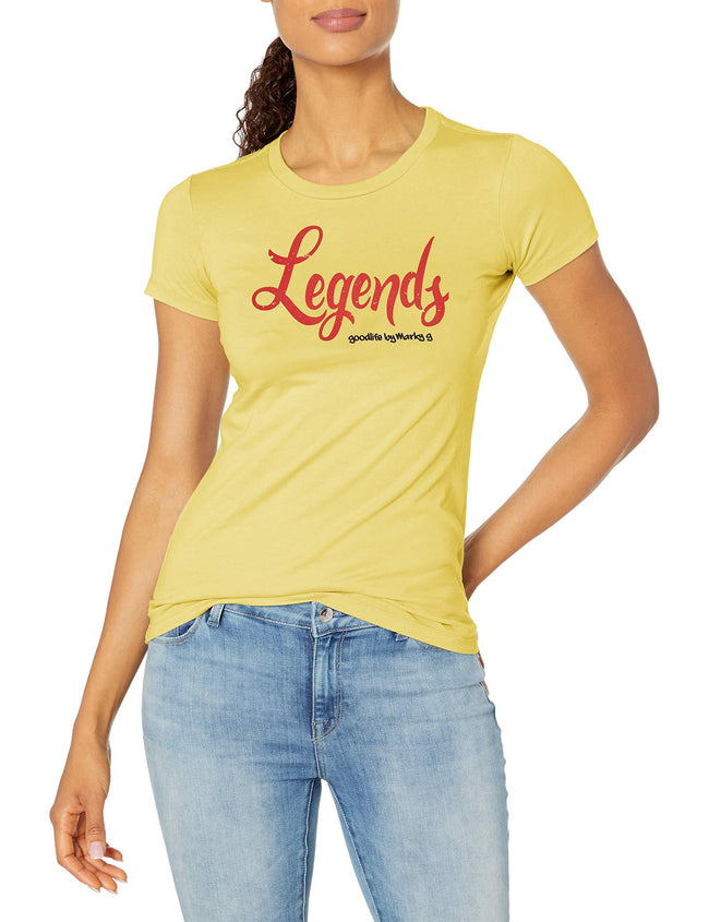 Marky G Apparel Women's Casual Short Sleeve Crewneck Tops Blouses Slim Fit T-Shirt With Legends Printed - Clementine Apparel