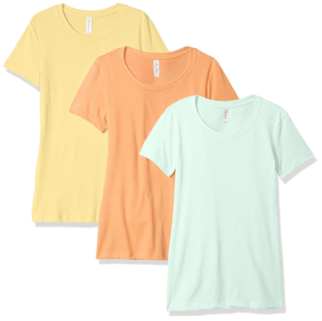 Clementine Women's Petite Plus Ideal Crew Neck Tee (Pack of 3) - Clementine Apparel