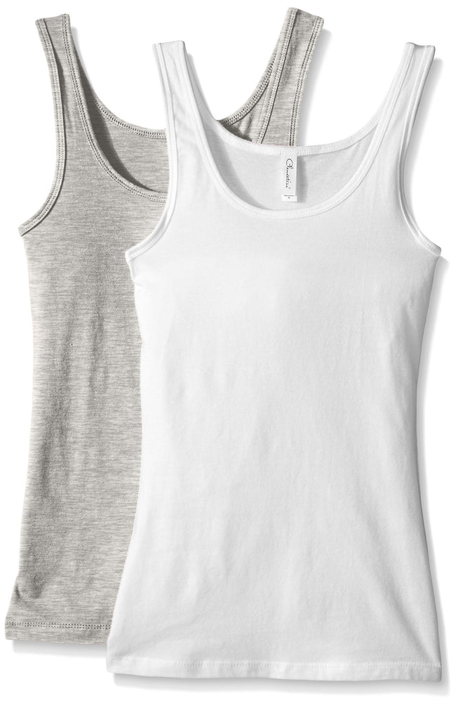 Clementine Women's 2x1 Rib Tank Top (Pack of 2) - Clementine Apparel