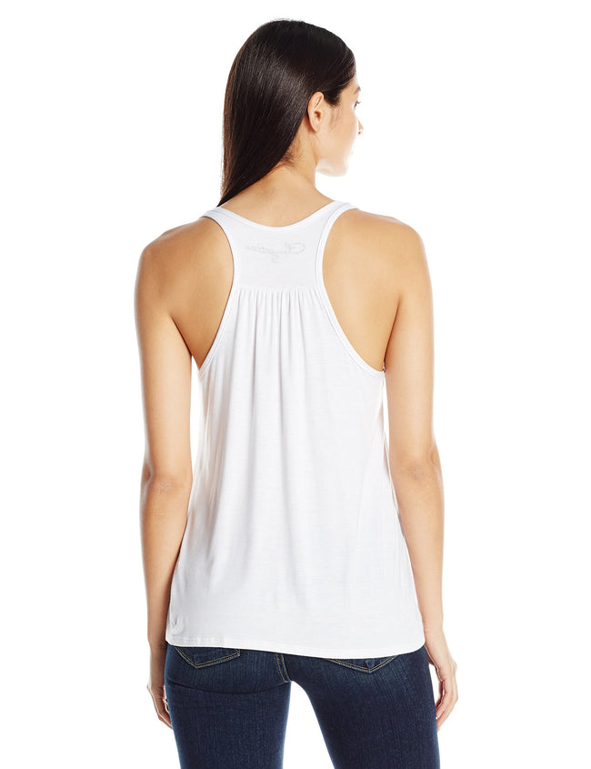 Clementine Women's Petite Plus Bride Anchor Printed Flowy Racerback Tank - Clementine Apparel