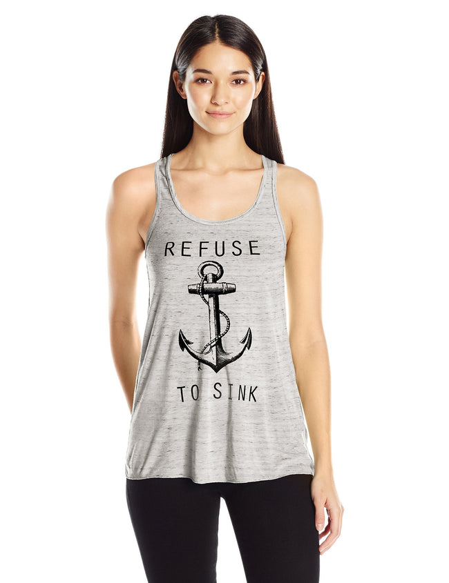 Clementine Women's Refuse to Sink Printed Flowy Racerback Tank - Clementine Apparel