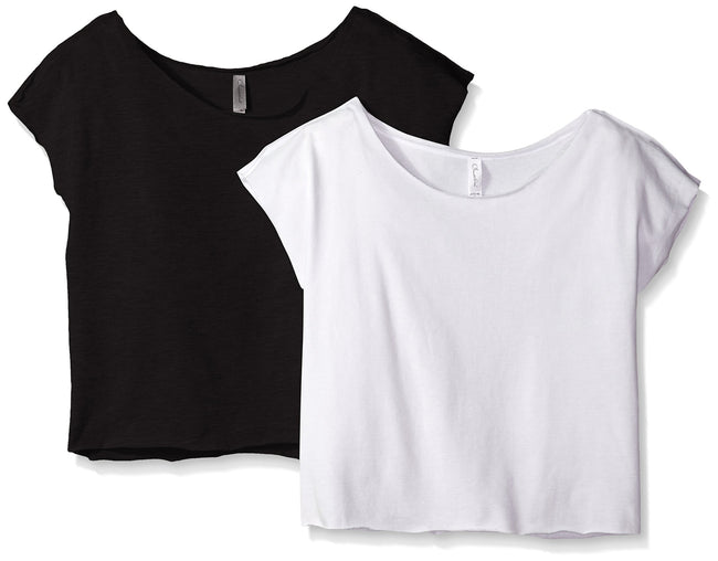 Clementine Women's Light Weight French Terry Dolman Sleeve Top (Pack of 2) - Clementine Apparel