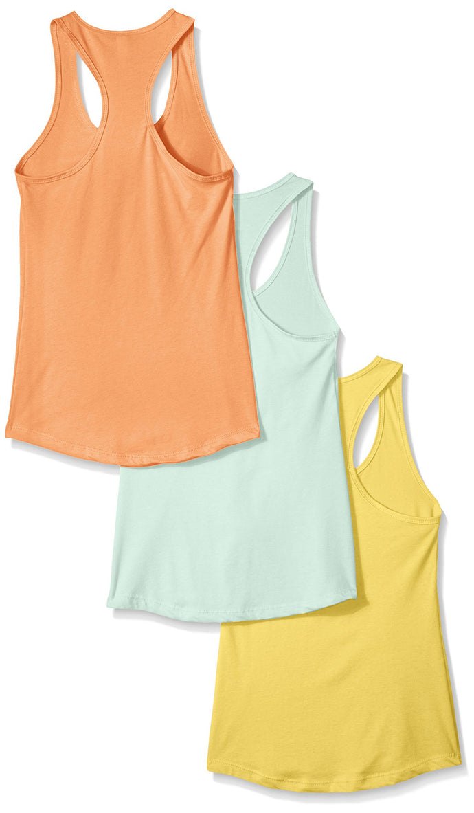 f60d6723313 Clementine Women s Petite Plus Ideal Racerback Tank (Pack of 3) - Clementine  Apparel