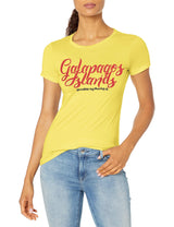 Marky G Apparel Women's Short Sleeve Crewneck Tops Slim Fit T-Shirt With Galapagos Islands Printed - Clementine Apparel