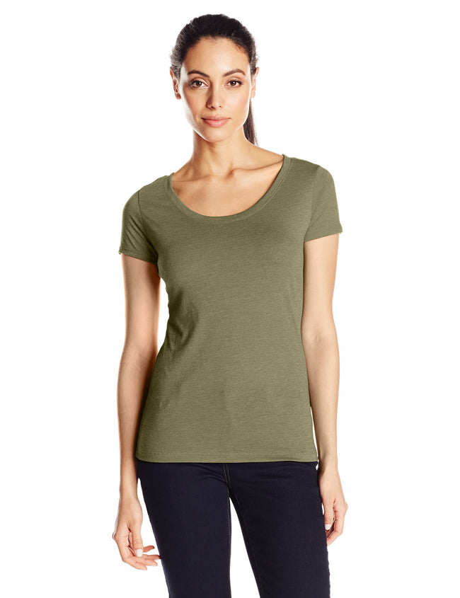 Clementine Women's Tri-Blend Scoop Neck Tee - Clementine Apparel