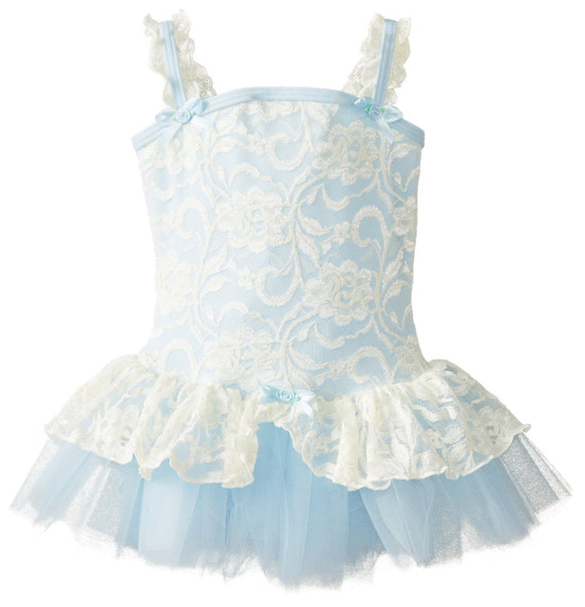 Clementine Little Girls' Lacy Camisole with Tutu Dress - Clementine Apparel