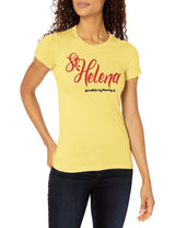 Marky G Apparel Women's Casual Short Sleeve Crewneck Tops Slim Fit T-Shirt With St. Helena Printed - Clementine Apparel